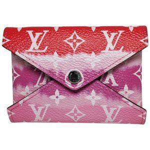 Louis Vuitton Small Red Escale Wallet Card Holder